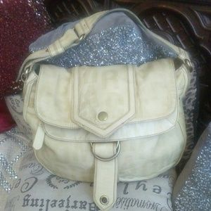 LARGE MARC JACOBS EMBOSSED  BUTTERMILK HOBO